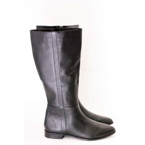 Shoes - NWT Black Leather Wide Calf Boots